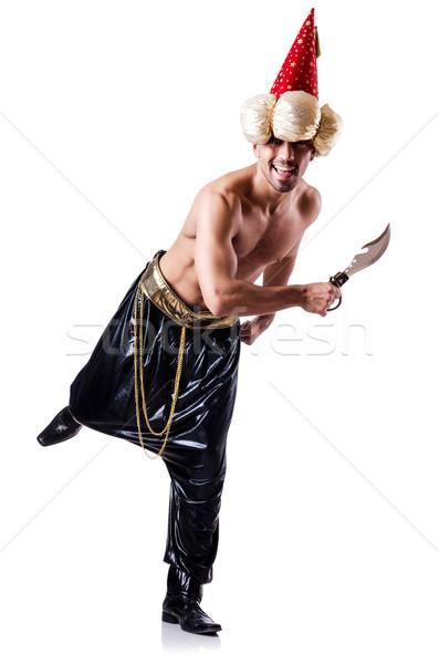 пиратских кинжал изолированный белый пушки ножом Сток-фото © Elnur