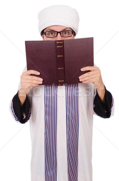 Emiraty człowiek odizolowany biały książek tle Zdjęcia stock © Elnur