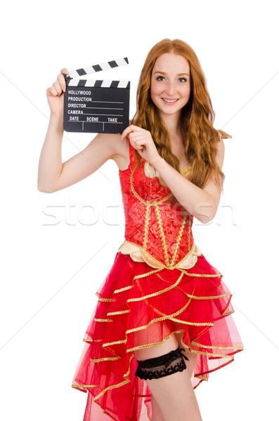 Vrouw piraat film boord mode kunst Stockfoto © Elnur