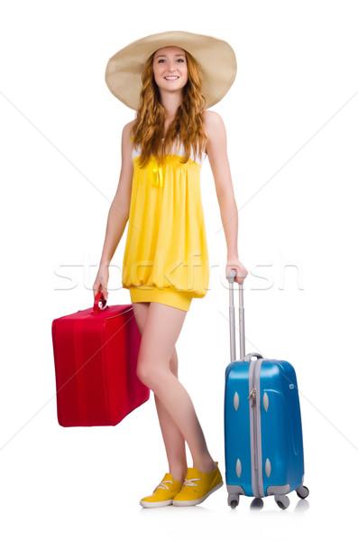 Kobieta biały dziewczyna szczęśliwy moda Zdjęcia stock © Elnur