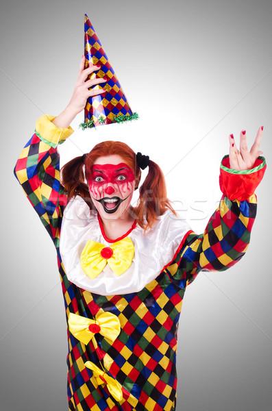 Clown kostuum geïsoleerd witte glimlach gezicht Stockfoto © Elnur