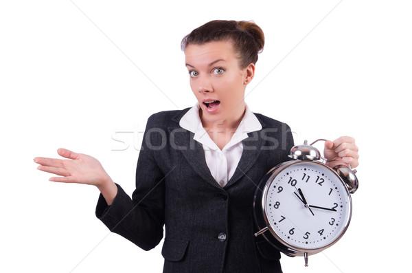 деловая женщина часы отсутствующий Сроки женщину работу Сток-фото © Elnur