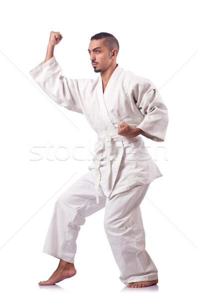 Karate combattente isolato bianco uomo salute Foto d'archivio © Elnur