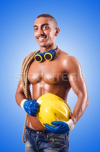 Muscular construtor ferramentas isolado branco construção Foto stock © Elnur