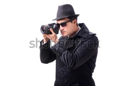 Criminal negro abrigo gris fondo Foto stock © Elnur