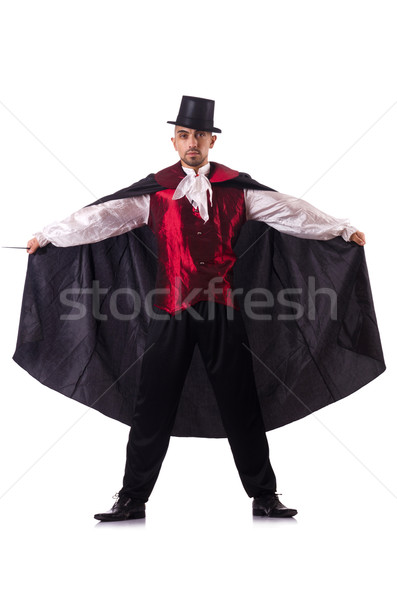 Man magician isolated on white Stock photo © Elnur