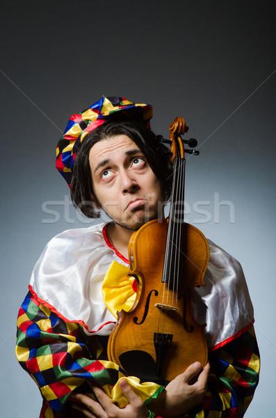 смешные скрипки клоуна игрок музыкальный музыку Сток-фото © Elnur