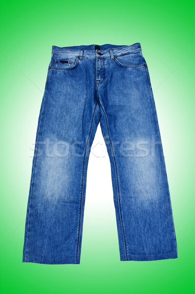Pair of jeans isolated on the white Stock photo © Elnur