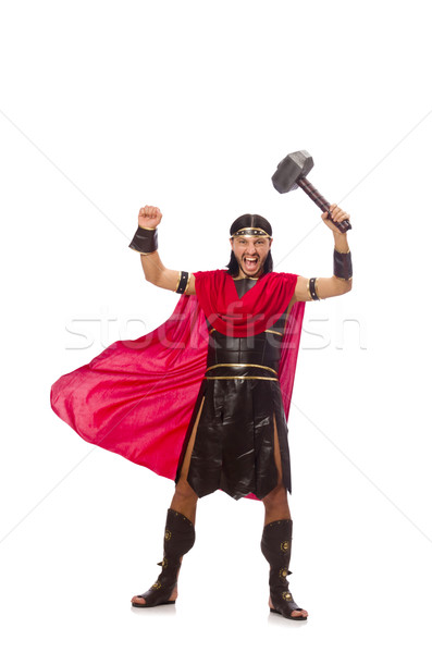 Gladiator marteau isolé blanche homme fond Photo stock © Elnur