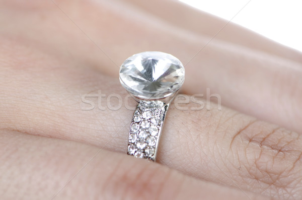 Jewellery ring worn on the finger Stock photo © Elnur