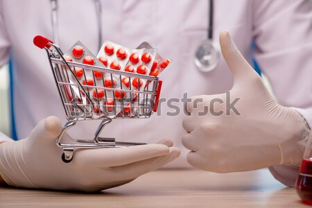 Doctor curing heart in medical concept Stock photo © Elnur