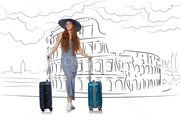 Young woman travelling to Rome in Italy Stock photo © Elnur