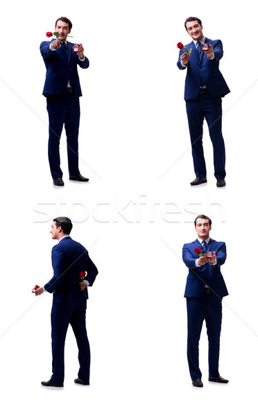 Romantikus férfi készít házasság javaslat nő Stock fotó © Elnur