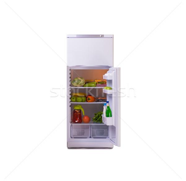 Modern fridge isolated on white background Stock photo © Elnur