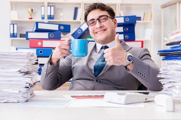 Biznesmen zajęty formalności biuro człowiek szczęśliwy Zdjęcia stock © Elnur