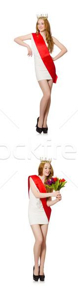 Beauté concours gagnant isolé blanche fille Photo stock © Elnur
