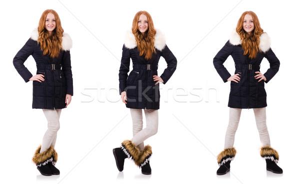 довольно девушки одежды изолированный белый Сток-фото © Elnur