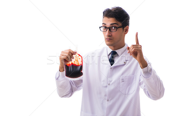 Doctor in blood donation concept isolated on white Stock photo © Elnur