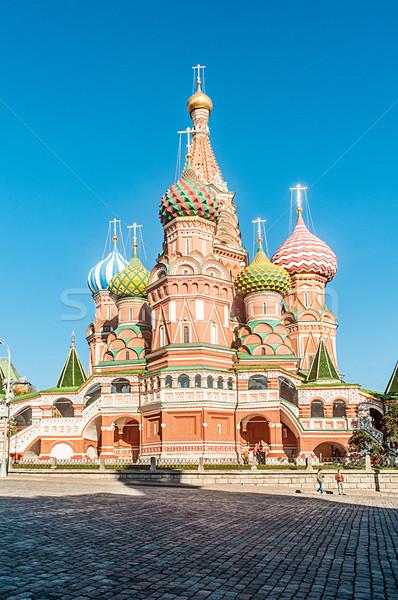 有名な 大聖堂 モスクワ 市 クロス 青 ストックフォト © Elnur