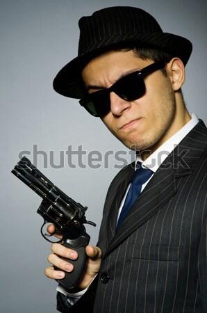 Férfi fegyver izolált fehér férfi fehér kéz Stock fotó © Elnur