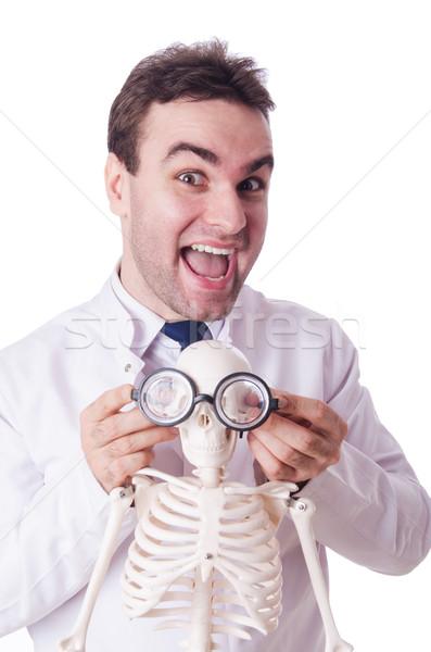 Engraçado médico esqueleto isolado branco homem Foto stock © Elnur