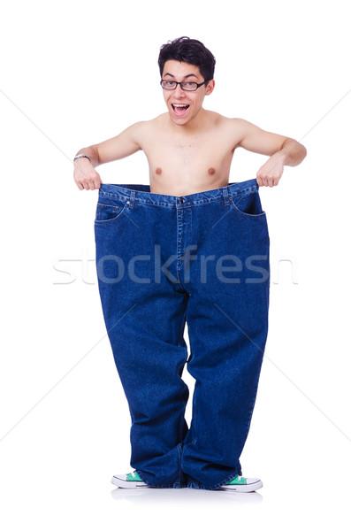 Grappig man broek geïsoleerd witte gezondheid Stockfoto © Elnur