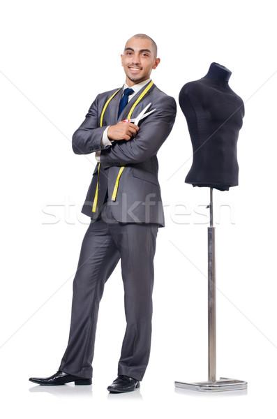 Alfaiate isolado branco homem moda trabalhar Foto stock © Elnur