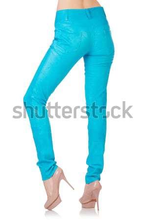 женщину ног синий брюки модель фон Сток-фото © Elnur