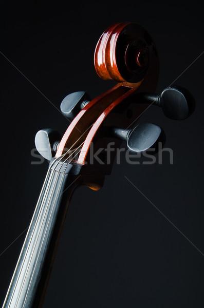 Violon noir musique rétro couleur sombre Photo stock © Elnur