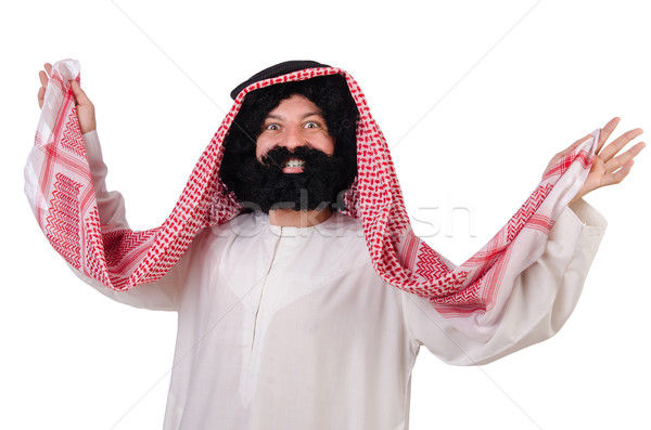 Dancing funny arab man isolated on white Stock photo © Elnur