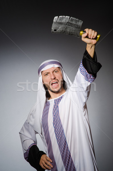 Arab man scherp bijl business glimlach Stockfoto © Elnur