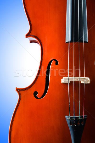 Violino isolado branco música retro cor Foto stock © Elnur