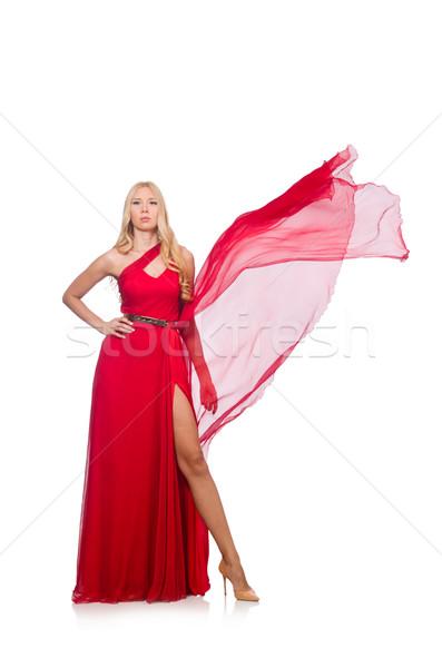 Nő divat ruházat izolált fehér lány Stock fotó © Elnur