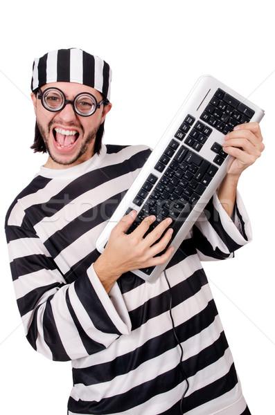 Börtön bennlakó izolált fehér számítógép billentyűzet Stock fotó © Elnur