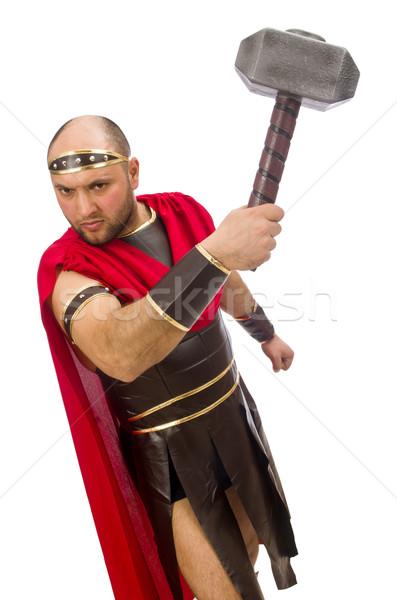 Gladiator marteau isolé blanche studio vêtements Photo stock © Elnur