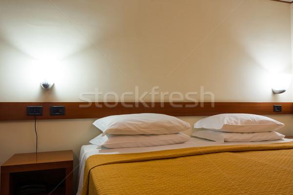 Moderno quarto de hotel interior casa projeto viajar Foto stock © Elnur
