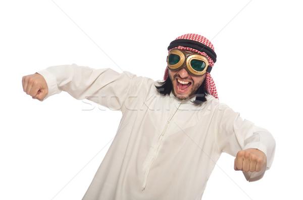 Arab man wearing aviator glasses isolated on white Stock photo © Elnur