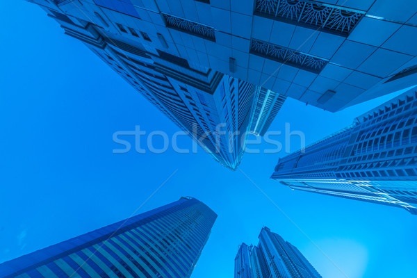Lang Dubai jachthaven wolkenkrabbers water gebouw Stockfoto © Elnur