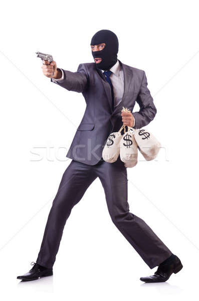 Criminal hombre aislado blanco dinero mano Foto stock © Elnur