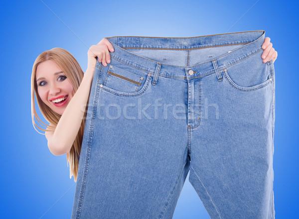 диеты джинсов женщину девушки счастливым здоровья Сток-фото © Elnur