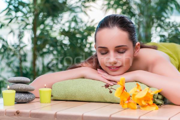 Jonge mooie vrouw spa procedure meisje gezondheid Stockfoto © Elnur