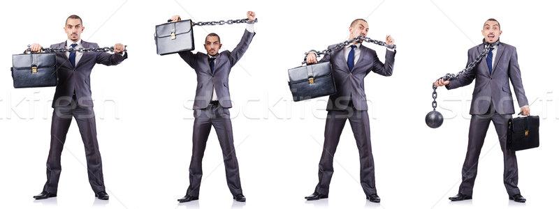 ビジネスマン 白 法 正義 ボール ロック ストックフォト © Elnur