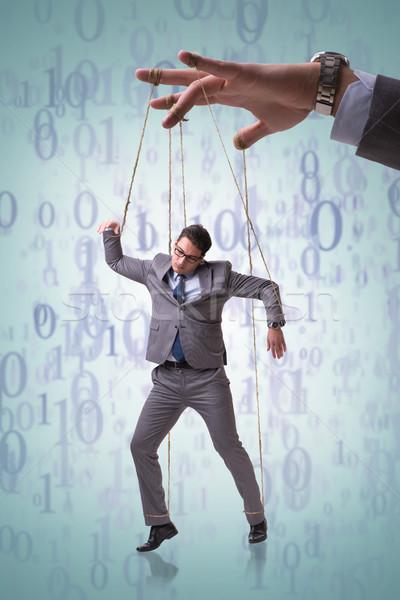 Imprenditore fantoccio manipolata boss business uomo Foto d'archivio © Elnur