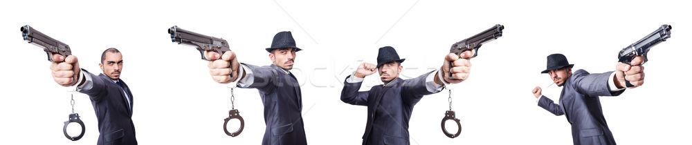 Vicces üzletember izolált fehér üzlet férfi Stock fotó © Elnur