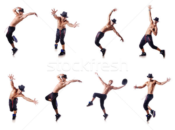 Danser geïsoleerd witte man dans mode Stockfoto © Elnur