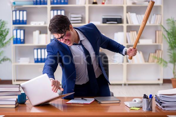 сердиться агрессивный бизнесмен служба человека работу Сток-фото © Elnur