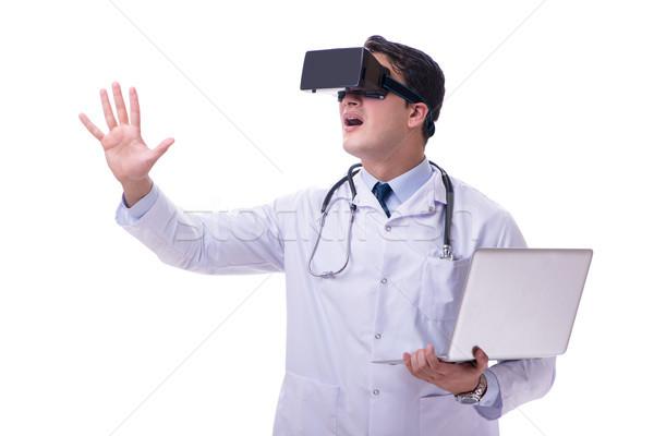 Médecin réalité casque isolé Photo stock © Elnur