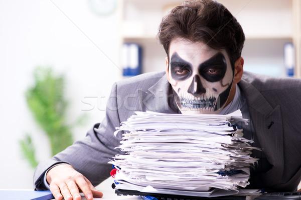 怖い 顔 マスク 作業 オフィス ビジネスマン ストックフォト © Elnur