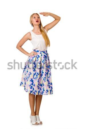 Vrouw geïsoleerd witte glimlach gezicht sexy Stockfoto © Elnur