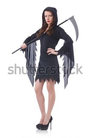 Model kürk kadın moda Stok fotoğraf © Elnur
